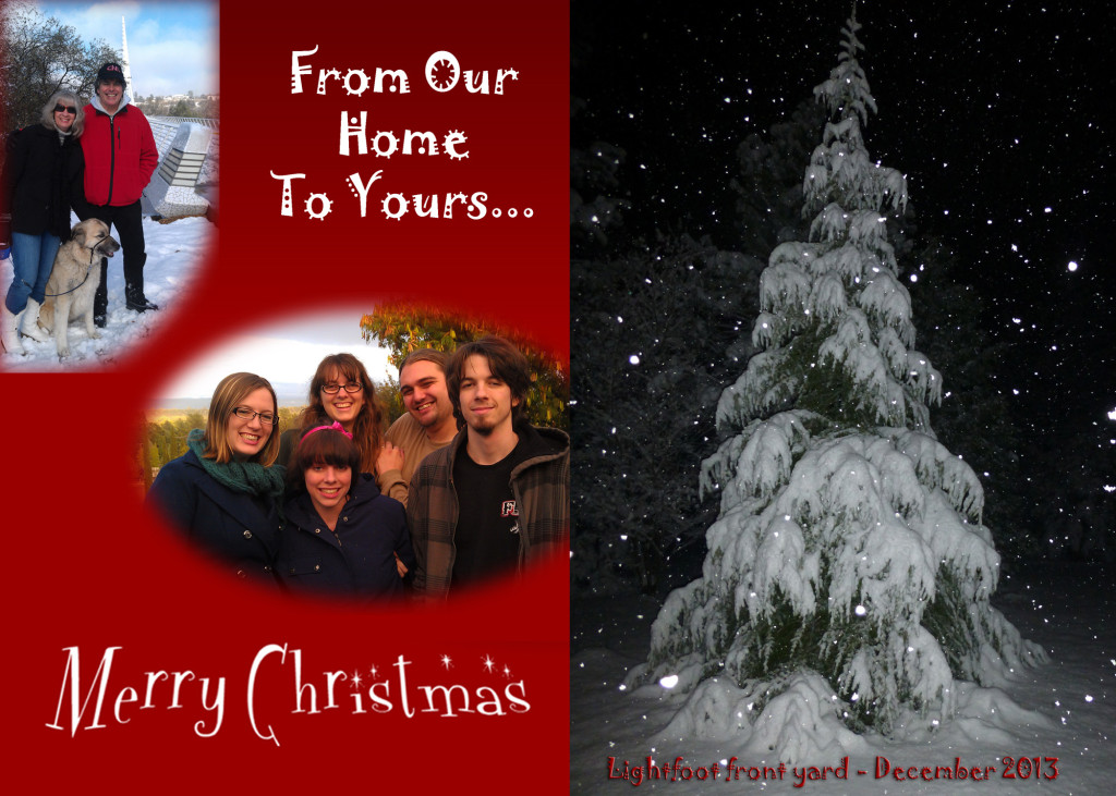 Lightfoot Christmas card