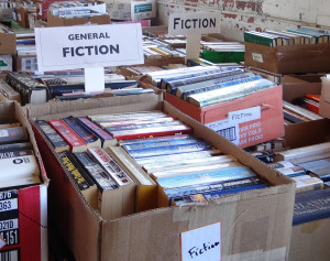 Public Domain Image of boxes of books