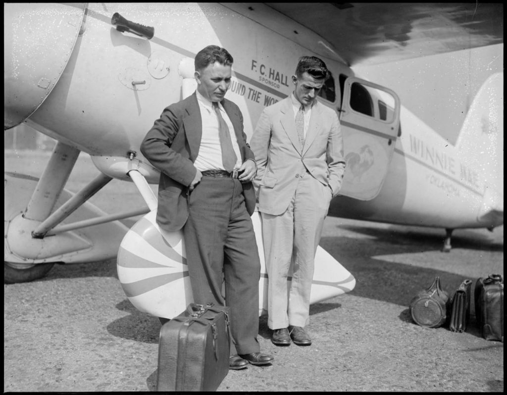 Navigator Harold Gatty and pilot Wiley Post